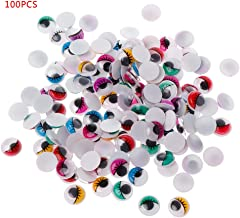 chefensty 100Pcs 8-20mm Plastic Active Bear Doll Puppet Safety Eyes with Eyelashes for Plush Animals Toy Making DIY Crafts