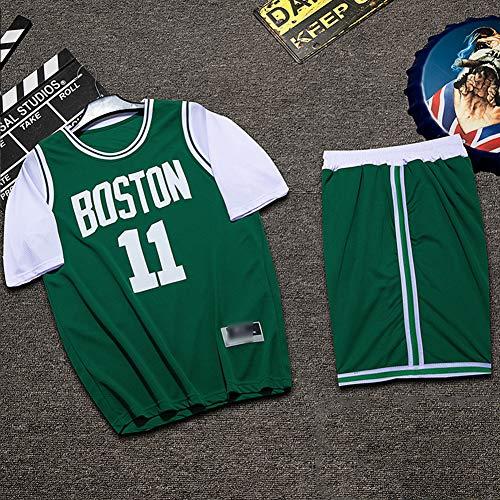 Z/A Brooklyn Nets Kyrie Irving # 11 Basketball Uniform Anzug Benutzerdefinierte Sport Der Männer Ausbildung Team Uniform Student Jersey,Grün,M