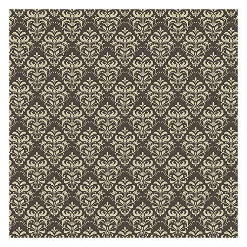 Tapete selbstklebend - Schoko Barock Damast - Fototapete Quadrat 240 x 240 cm