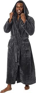 Mens Luxury 400gsm Hooded Long Robe - Full Length Plush...