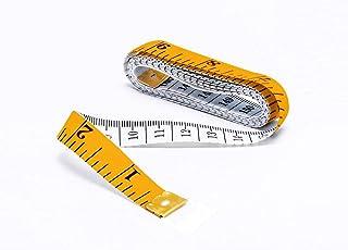 شريط قياس ناعم للجسم من الماري، شريط قياس مزدوج ناعم 80 انش/ 200 سم، شريط قياس بحجم مناسب للجيب لخياطة الملابس، ابيض