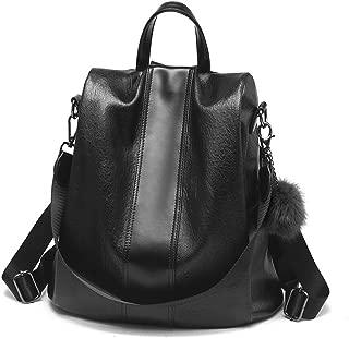Women Backpack PU leather Purse Waterproof Anti-theft Rucksack Lightweight Shoulder Bag