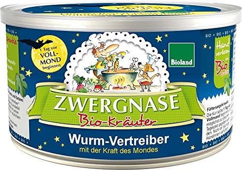 zwergnase Bio Ergänzungsfuttermittel Wurm-Vertreiber Pulver (Vollmond Produkt Bioland) 140g