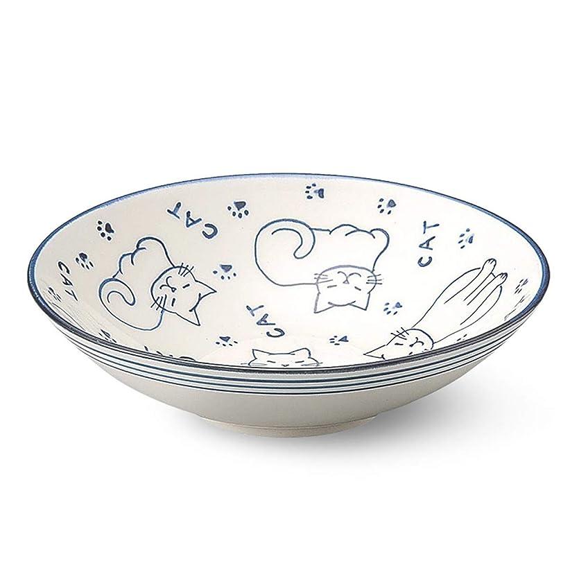 甘味興奮するすでにCtoC 萬古焼 シリアル ボール 56-14256 平鉢 CAT 直径 16 (cm) 高さ 4.2 (cm) 朝食 平鉢