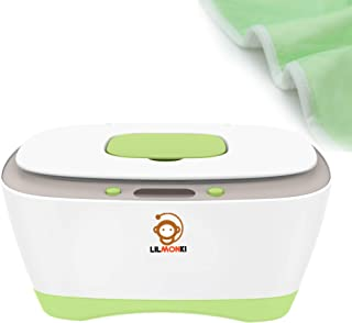 Lilmonki- Wet Wipe Warmer and Dispenser - For Baby Wipes - BPA-Free - Includes Bonus Changing Pad