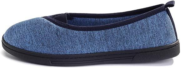 FootTech Women House Slippers Memory Foam Lightweight Anti-Skid Comfort Cotton Home Shoes Designed