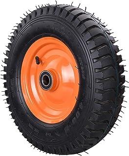 YJJT Heavy Duty wiel, Opblaasbare rubberen wielen, Slijtvast, Slagvast, Dikke stalen wielkern, Lange gebruikstijd, Antisli...