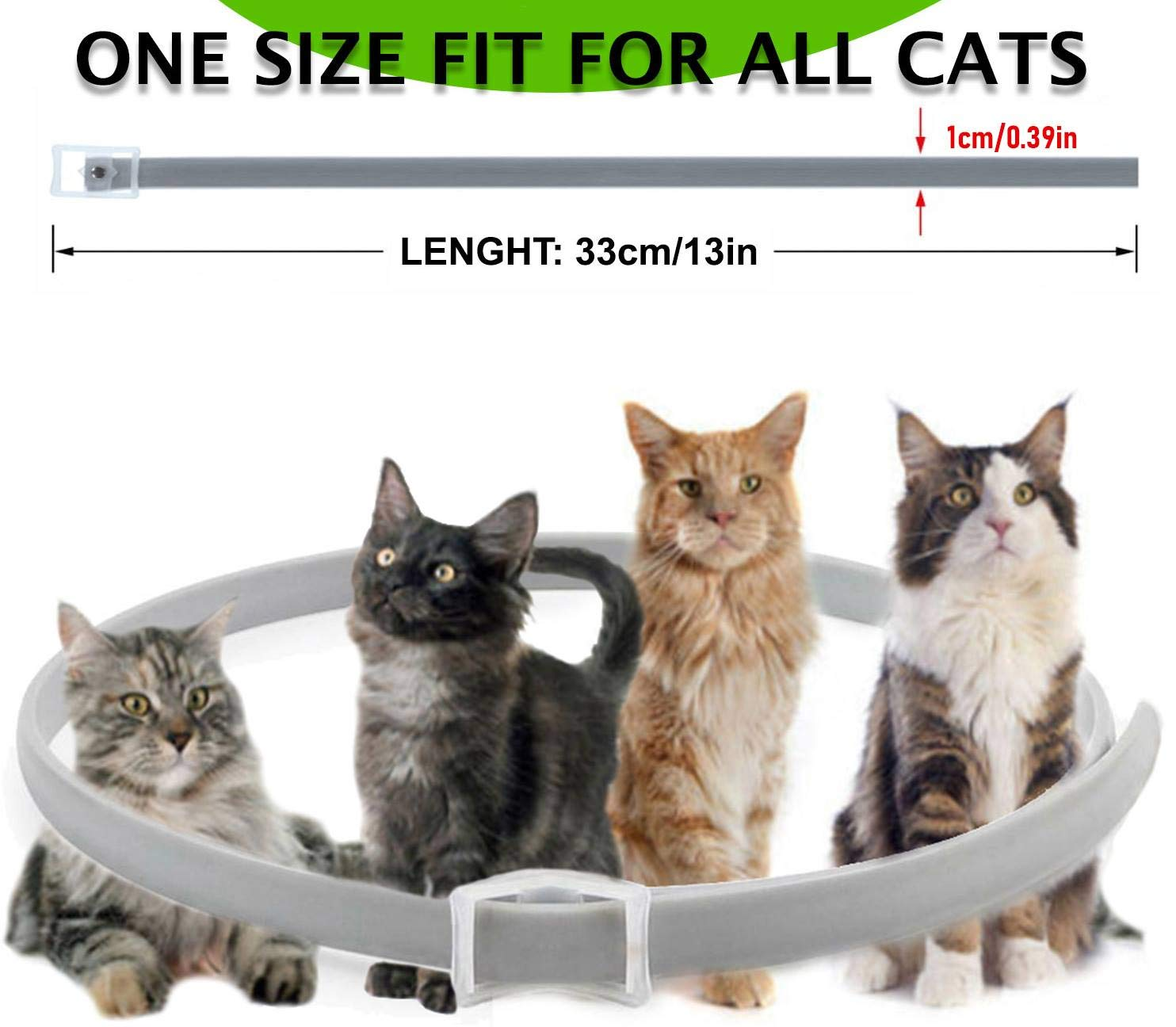 Collar antipulgas y garrapatas para Gatos, resistente al aqua, protección activa de hasta 8 Meses, 33 centimetros, para qualquier tamaño de gato: Amazon.es: Productos para mascotas