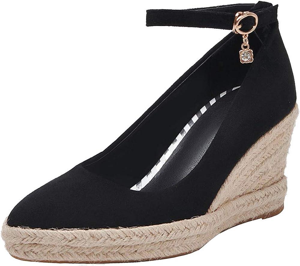 Lizzhen Women Elegant Wedge Heel Pum High Strap Pumps At Direct stock discount the price Ankle