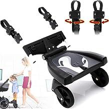 Buggy Board Trittbrett Mitfahrbrett universal passend für alle Kinderwagen Buggy Sportwagen Jogger/Zusatzsitz Erweiterung mit Sicherheitsgriff 3-fach höhenverstellbar Buggy Board