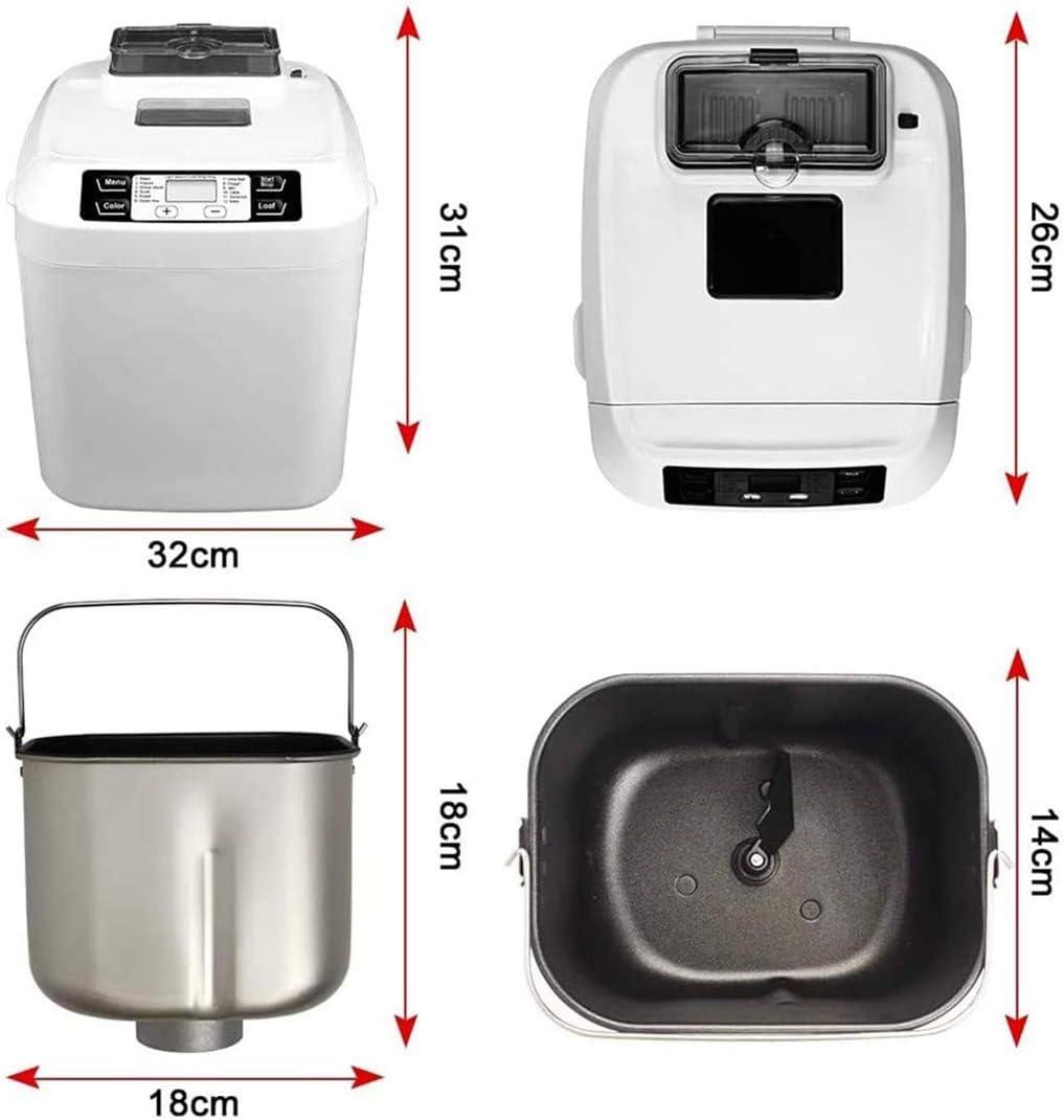 YXP Automatische Brood Machine, Multifunctionele Programmeerbare Brood Maker, (25 Programma's, 3 Shell Kleuren, 15 Uren Reservatie,1 Uur Houd Warm) Rood Rood