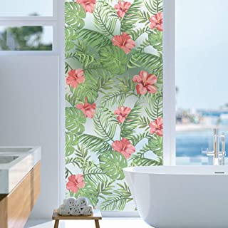 Privacy Film Window Beach T5 Milk Glass Motif Stickers Decorative Stickers Sheet