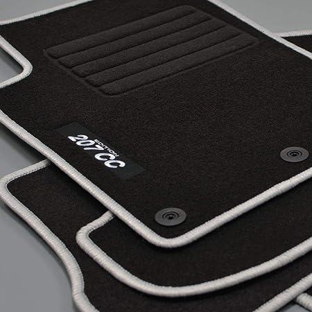 Mattenprofis Velours Logo Fußmatten Passend Für Peugeot 207 Cc Ab Bj 02 2007 Silber Auto