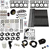 6.0L Revive #4 Kit w/Aftermarket Studs Head Gaskets Oil Cooler Stand Pipes Coolant Filtration Blue Spring Gskts STC - Fits Ford 6.0L Powerstroke Kit - 03-05.5 18MM Dowel - DK Engine Parts (18-4R)