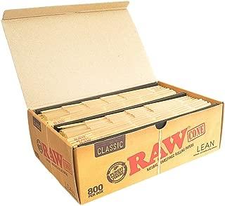 RAW Classic Natural Unrefined Pre-Rolled 800 Cone Box - Lean Size 110mm