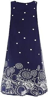 FRana Women's Print Dresses Summer Solid Chiffon Sleeveless Evening Party Vest Dresses