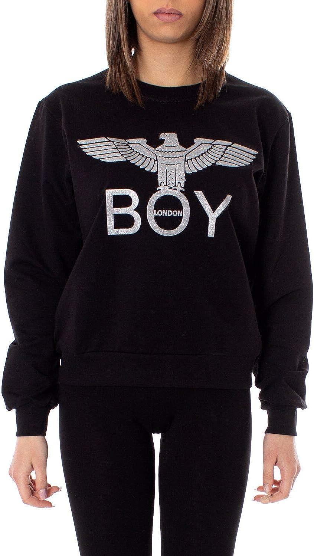 Boy London Women's BLD2010BLACK Black Cotton Sweatshirt