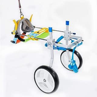 Jump Adjustable Dog Pet Wheelchair for Hind Legs Rehabilitation, 2 Wheels Dog Cart Wheels