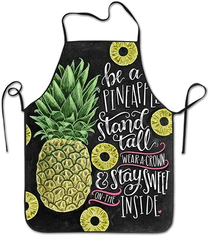 AfagaS Unisex Personalized Apron Be A Pineapple Stand Tall Printed Apron Cooking BBQ Party Commercial Craft