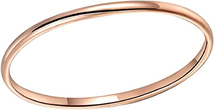 Athena Jewelry Titanium Series 1.5 MM Titanium Comfort Fit Wedding Band Ring Rose Gold Plated Classy Domed Ring(Size Selectable)