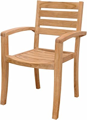 Anderson Teak 4 Piece Catalina Stackable Fully Built Armchair, DupioneLaurel