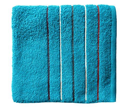 Santens Serviette de Toilette, Coton, Turquoise, 50x100 cm