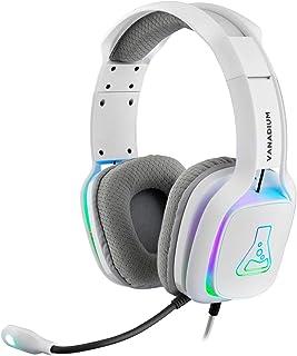 THE G-LAB Korp VANADIUM PS4 Gaming Headset - Stereo Audio Gaming Headset, Ultra Light, High Bass - Microphone 3.5mm Jack f...