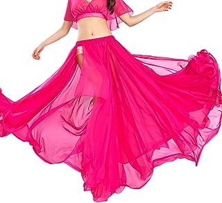 ROYAL SMEELA Bauchtanz Rock Ausbildung Performance Kleider Flamenco Chiffon Langer Rock Tanzen Slit Röcke Zigeuner Festival Tanzen Maxirock Damen