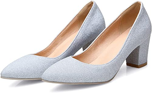 CXQ-Talons QIN&X Wohommes Pointy Toe bouche bouche ronde peu profonde Prom High Heels Pompes Chaussures Cour Mariage