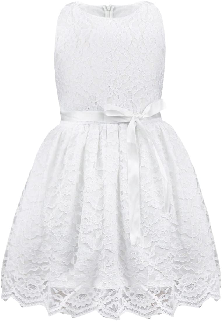 iEFiEL Girls Boutique Princess Lace Flower Dress Wedding Pageant Party Ball Gown