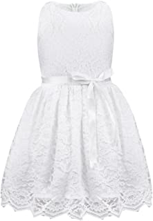 Girls Boutique Princess Lace Flower Dress Wedding Pageant Party Ball Gown