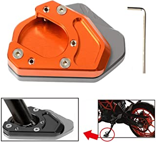Motorcycle Kickstand Side Stand Enlarger Extension Enlarger Pate Pad For KTM 125 200 250 390 690 Duke 690 Enduro 950 Adventure 990 Adventure 990 Supermoto RC 125 200 250 390(Titanium+Orange)