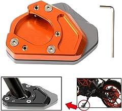 Motorcycle Kickstand Side Stand Enlarger Extension Enlarger Pate Pad For KTM 125 200 250 390 690 Duke 690 Enduro 950 Adventure 990 Adventure 990 Supermoto RC 125 200 250 390(Titanium+Orange)