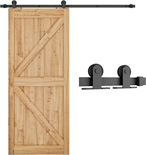 """discount SMARTSTANDARD 6.6 Feet Top Mount Sturdy Sliding Barn Door Hardware Kit - Smoothly and discount Quietly - outlet online sale Simple and Easy to Install - Includes Step-by-Step Instruction - Fit 36""""-40"""" Wide Door Panel (T Shape) outlet sale"""