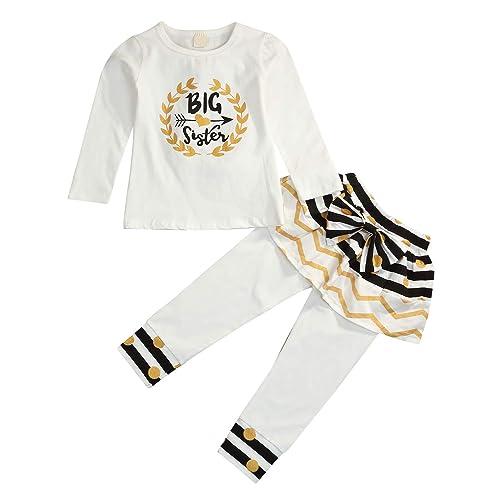 41118307d Newborn Little Sister Baby Little Girls Skirts Leggings Pants Gifts Outfits  Set