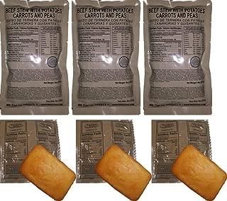 MRE 3 pack Entrée Combinations (Entrées & Sides) - 1st Insp. Date '20 - '21 (3pk Beef Stew Combo')