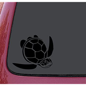 Dark Color Turtle Shaped Sticker Decal