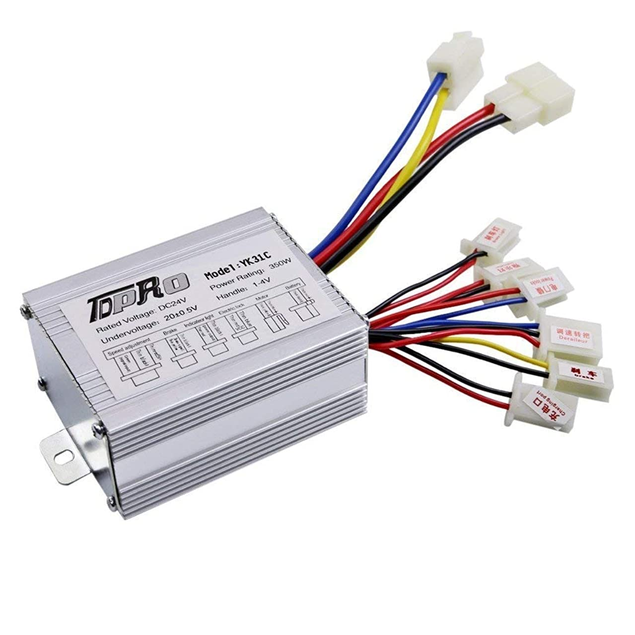 JCMOTO 24V 350W Brush Speed Motor Controller for Electric Scooter Bicycle e Bike Tricycle