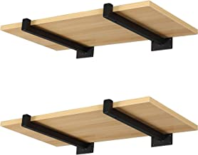 25 cm zwarte plankdrager, wandmontage, plankhouder met lippen, metalen ondersteuning voor wandrek met laadcapaciteit 60 k...