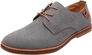 be0201a664181d KItipeng Chaussures De Ville à Lacets pour Homme,Cuir Brogue Business Cuir  Vernis Derby Mariage