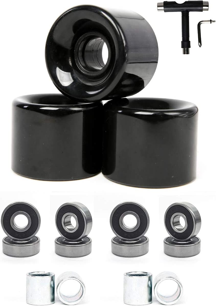 FREEDARE 58mm Max 44% OFF Skateboard Wheels 82a + Bearing Save money S ABEC-7 Steel and