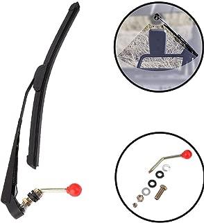 CongratsYiCross2019 UTV Windshield Wiper Kit Fits for Polaris Ranger RZR 900 1000 Can Am Kawasaki Honda Pioneer Golf Cart Hand Operated Manual Wiper Arm and Blade Set 350mm/400mm