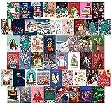 Etiqueta engomada de la decoración del Dormitorio de Navidad | Collage de Pared Set Aesthetic Soft Fotografías 50 PCS 10cm * 14cm | Dormal de Dormer Pósters para Adolescente Chenhuanbakeyji