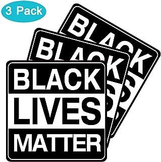 "Besby 3pcs Black Lives Matter Stickers, 7""x7"" Car Auto Vinyl Bumper Decal, Wall, Window, Laptop Sticker"