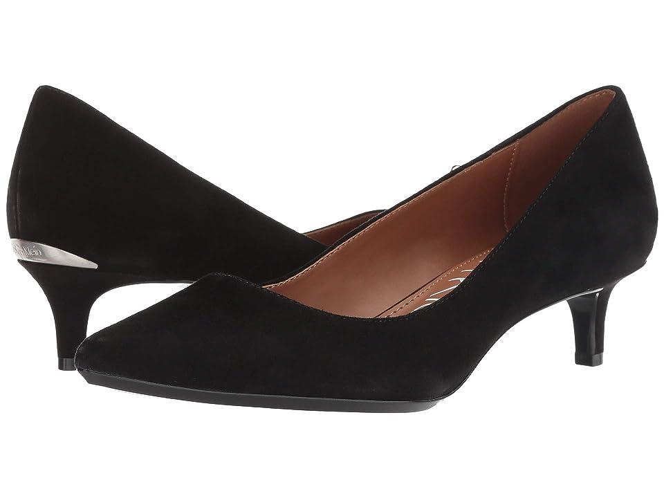 Calvin Klein Gabrianna Pump (Black Suede/Leather) Women