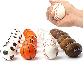 Vlish Stress Balls Set of 24 – Sports Soft PU Stress Ball   Stress Reliever Squishy Mini Balls   Great for Kids Party Favor, Stocking Stuffer, Easter Basket, School Grab Bags