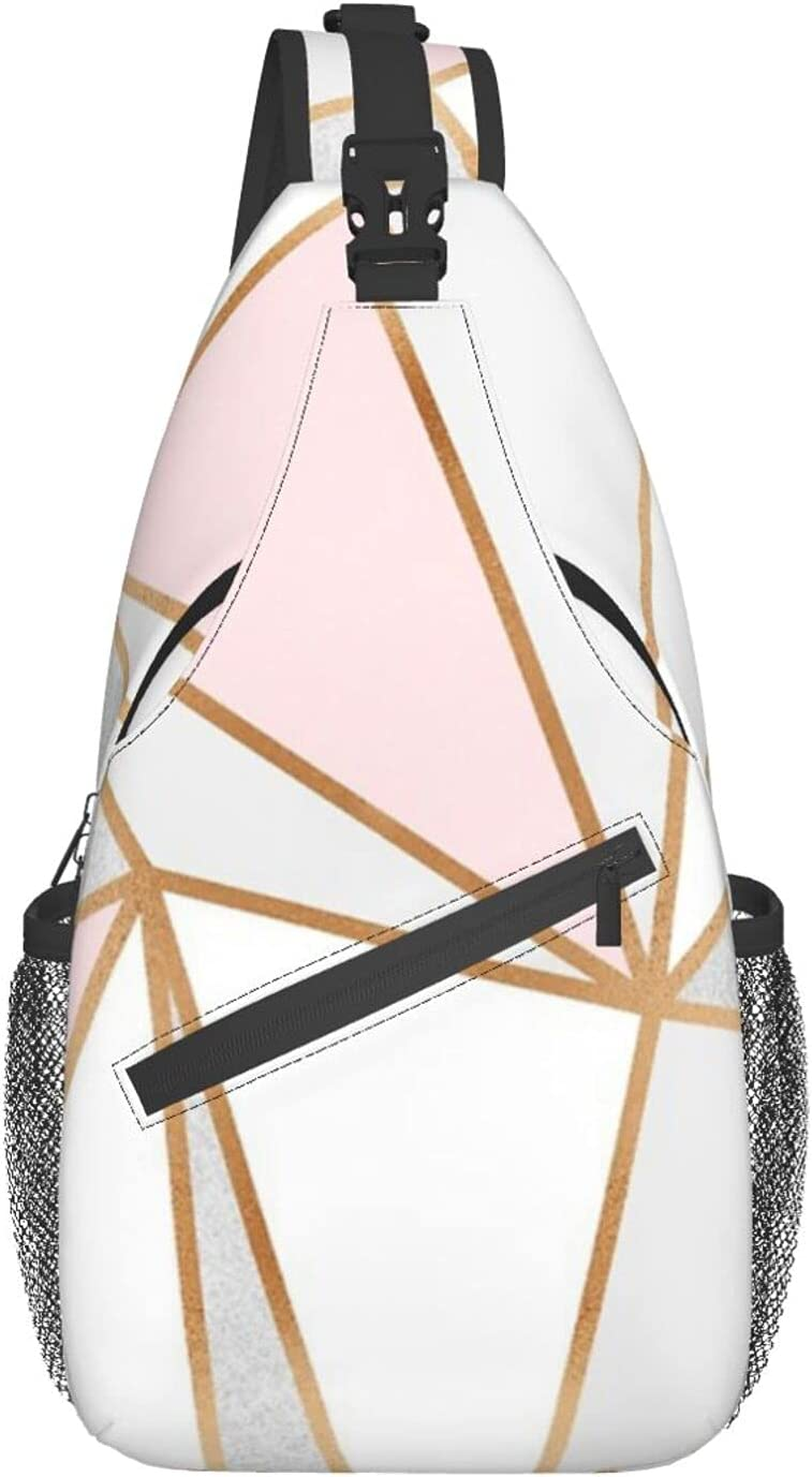 Pink Grey Gold Geo New arrival chest Backpack Sling Travel Ranking TOP5 bag diagonally