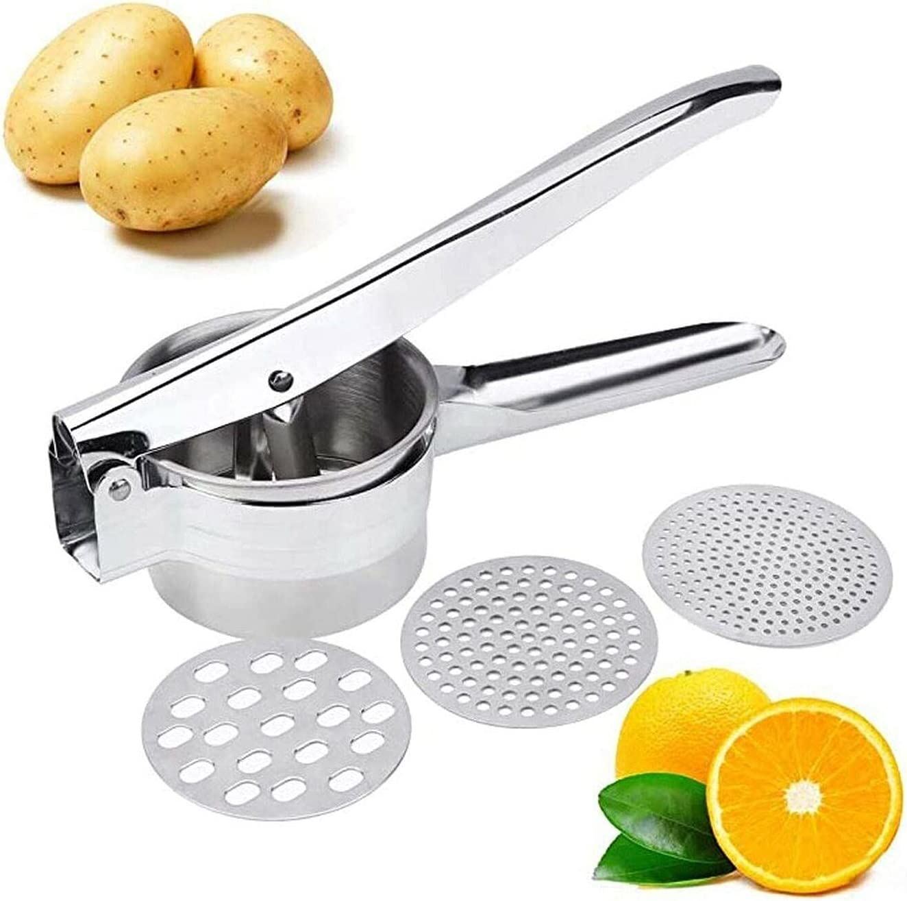 Premium Super beauty product restock quality top! Stainless Steel Potato Ricer Set g Ranking TOP1 Ricing 3 Kitchen with