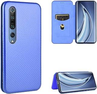 BAIYUNLONG Funda Protectora, For Xiaomi Mi magnética Vuelta Horizontal de Cuero del Caso 10 5G de Fibra de Carbono Textura...