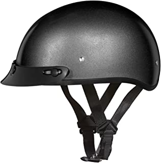 Daytona Helmets Motorcycle Half Helmet Skull Cap 100% DOT Approved